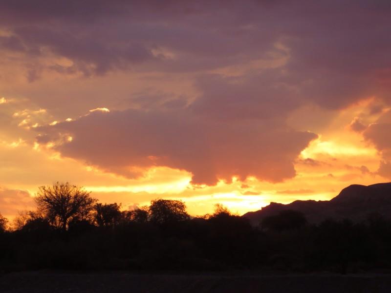 Por do sol no Deserto do Atacama, no Chile