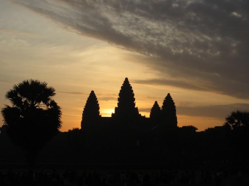 Nascer do sol em Angkor Wat - Camboja
