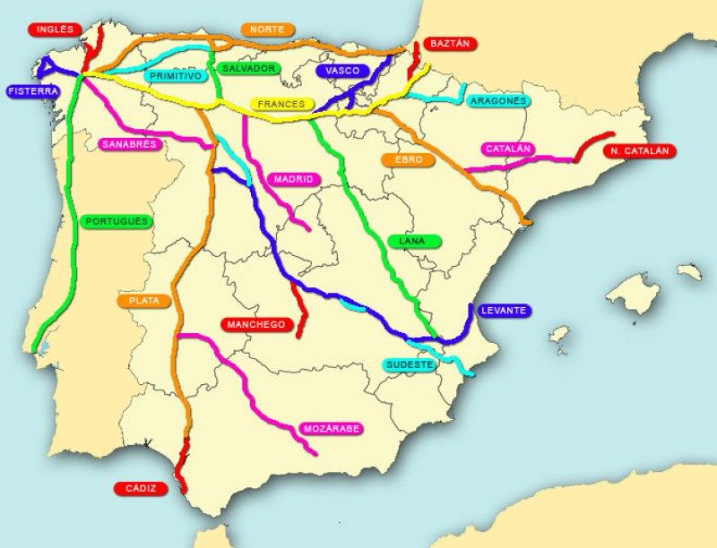 mapa-caminos-de-santiago