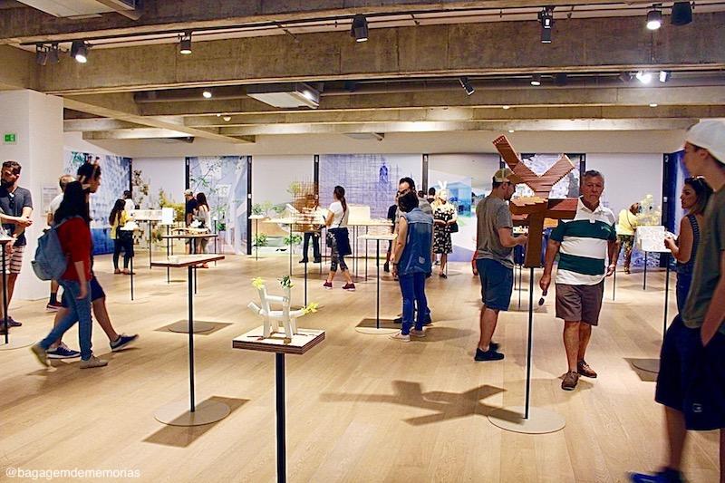 Japan House durante a exposição Sou Fujimoto: Futuros do futuro.