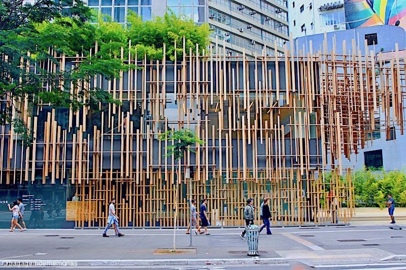 Fachada da Japan House, na Avenida Paulista.