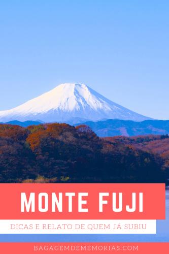 Dicas e o relato de quem já subiu o Monte Fuji, no Japão.