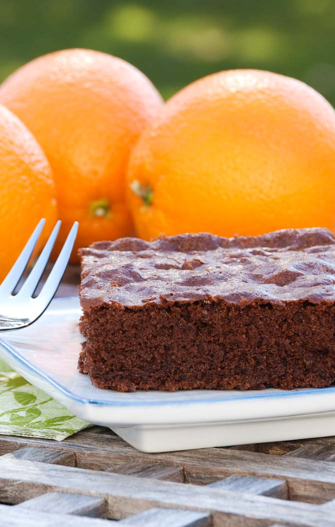 Chokoladekage med appelsin fra Bageglad.dk