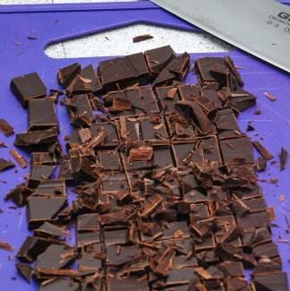 Hakket chokolade