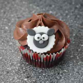 Får cupcake