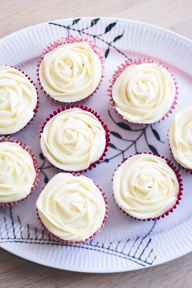 Cupcakes med roser