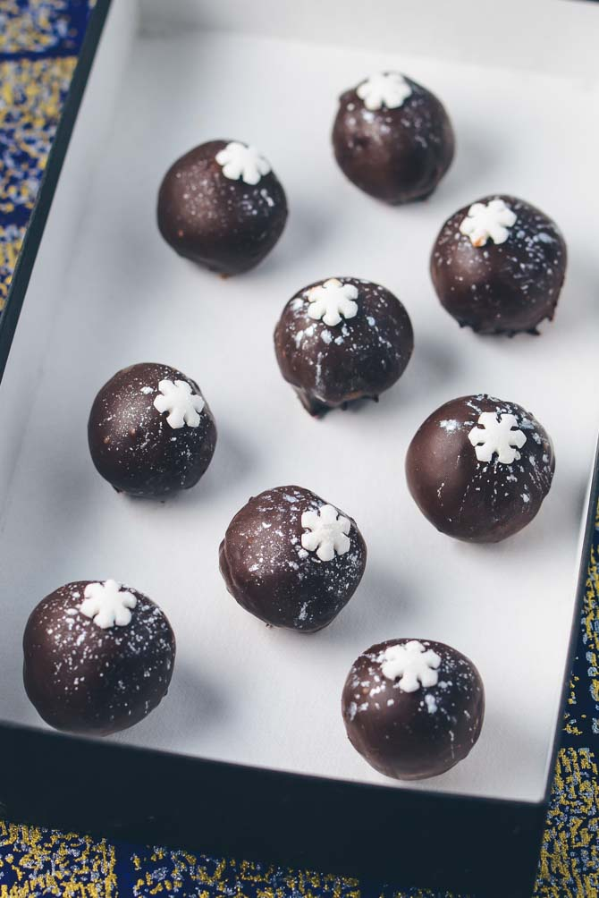 Chokolade konfekt med snefnug