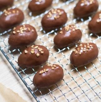 Dyppe påskeæg i chokolade