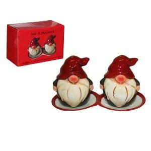 Salt- och pepparset på fat - Jultomtar