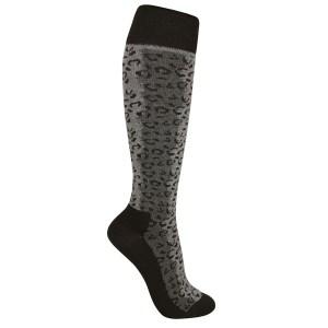 Kompressionsstrumpor grå svart leopardmönstrade strl 37-39