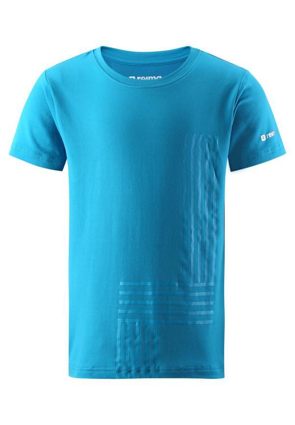 Läcker blå tshirt Reima strl 110 svalkande fuktavledande