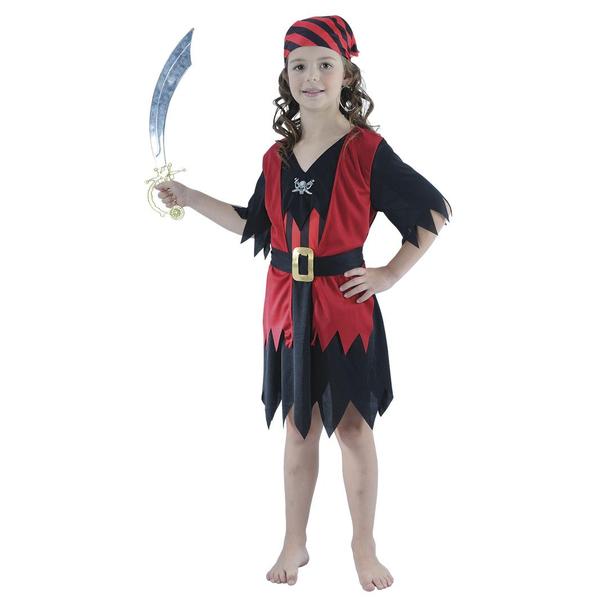 Maskeraddräkt piratflicka
