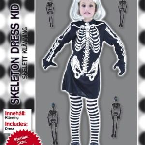 Maskeraddräkt skelettbarn strl 122-134