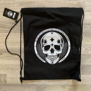 Northern spirit svart gym bag gymnastikpåse med coolt tryck
