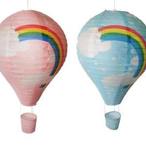 Luftballong dekoration regnbåge rosa rislampa barnrum