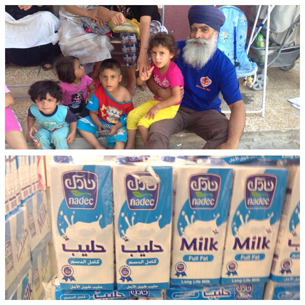 Ravinder Singh CEO of Khalsa Aid assisting the refugees in Iraq.