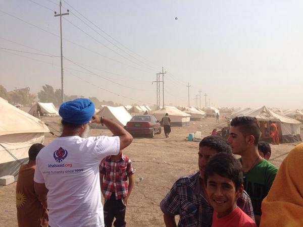 Khalsa Aid ( UK) working with Iraqi refugees  in Kurdistan, Northern Iraq.