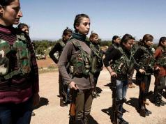 Kurdish YPG fighters in Kobani