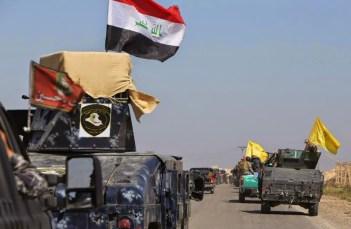U.S.-made Humvees being used by Shia militias against Daesh in Tikrit.