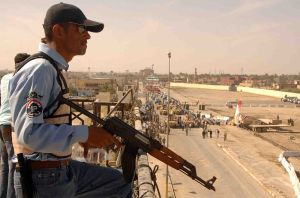 Member of Iraqi security forces in Ramadi back in 2008.