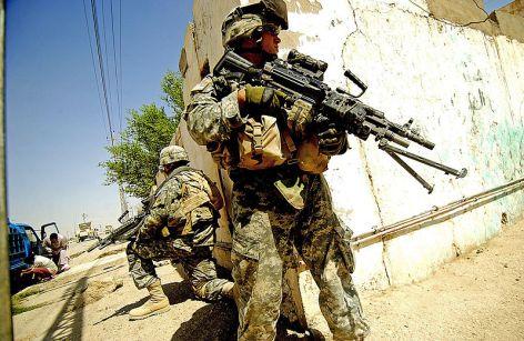U.S. troops deployed in Ramadi, August 2006. / Taken by Air Force Tech. Sgt. Jeremy T. Lock.