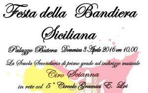 Festa della Bandiera Siciliana -  Domenica 3 aprile,  palazzo Butera, ore 10,00