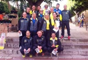 Gli amatori dell'Atletica Bagheria alla maratonina di Terrasini