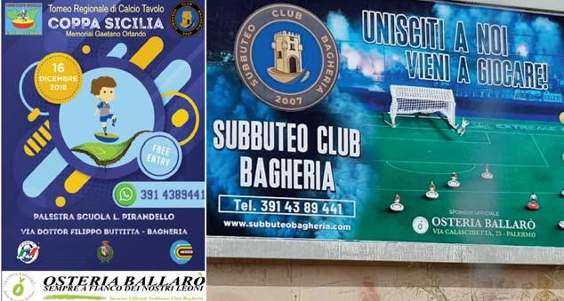 """A Bagheria la """"Coppa Sicilia di Calcio da Tavolo"""""""