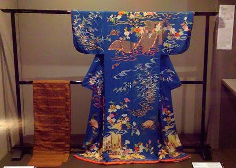 ผ้าในราชสำนักญี่ปุ่น ชุดกิโมโน ผ้าโอบิ