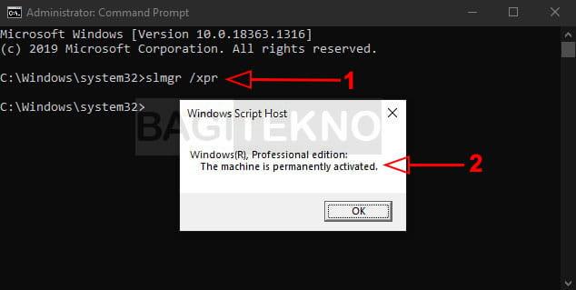マスク ke システム Windows コントロール パネル ウントゥク cek ステータス aktivasi