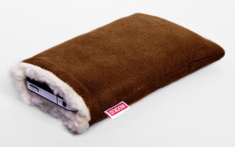 mooki sac, mobilfodral, vintervarmt mobilfodral, teddyfoder