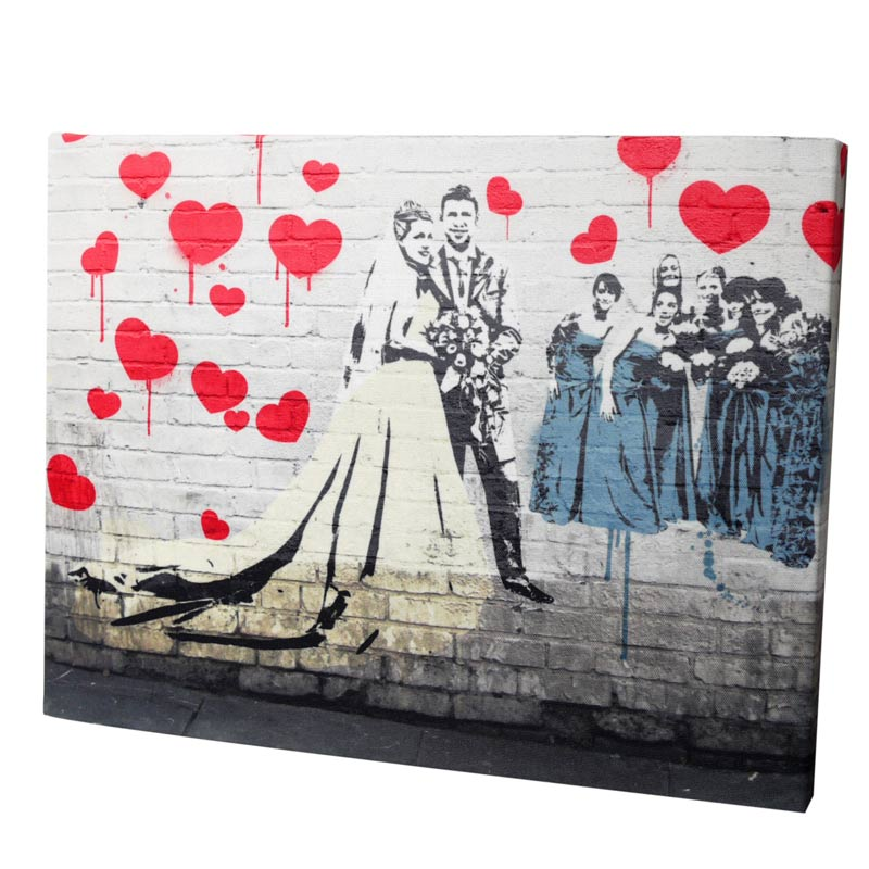 Banksy Canvas Print Gift Ideas Blog