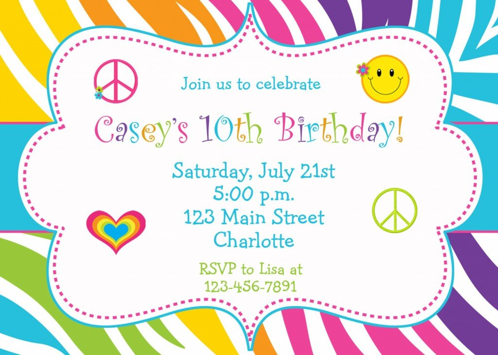 Create Birthday Party Invitations