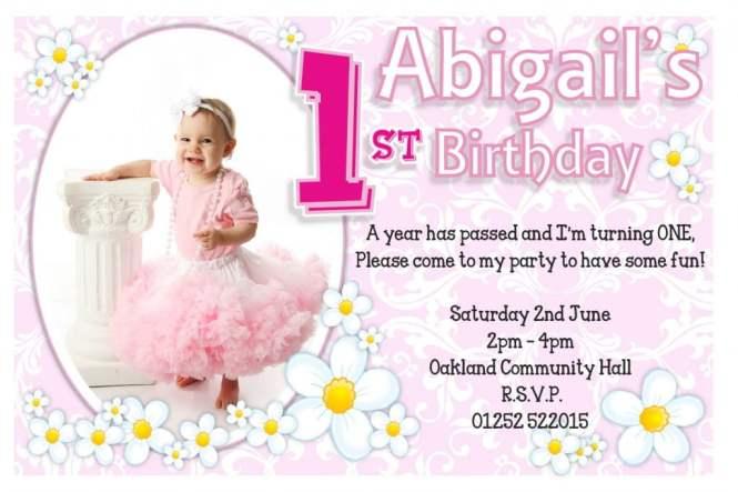 1st Birthday Invitations Ideas For
