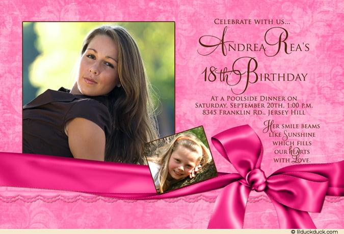 18th birthday invitation ideas free