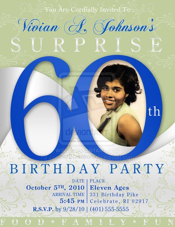 60th Birthday Invitation Card – 60th Party Invitations
