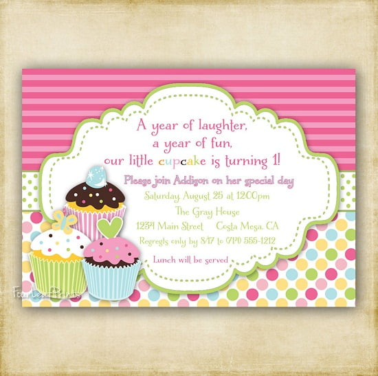 Cupcake Birthday Invitations Ideas For Her Bagvania FREE