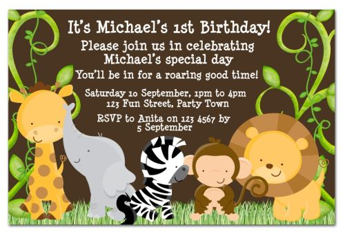 safari birthday invitations free
