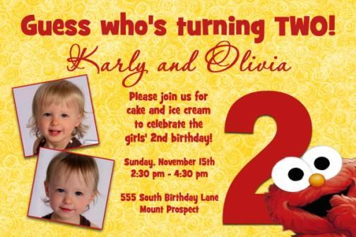 2nd birthday invitation wording free