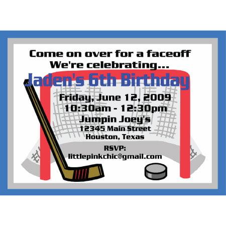 hockey birthday invitations free