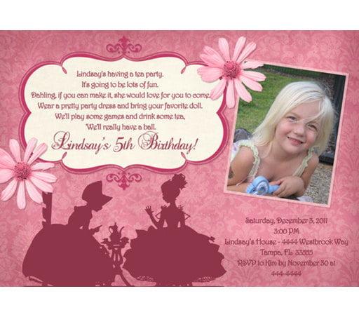 tea party birthday invitations free