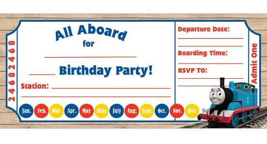 thomas birthday invitations free