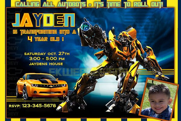 transformers birthday invitations
