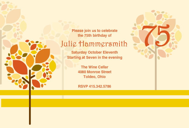 75th birthday invitations ideas free