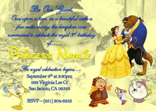 Beauty And The Beast Birthday Party Invitation Ideas