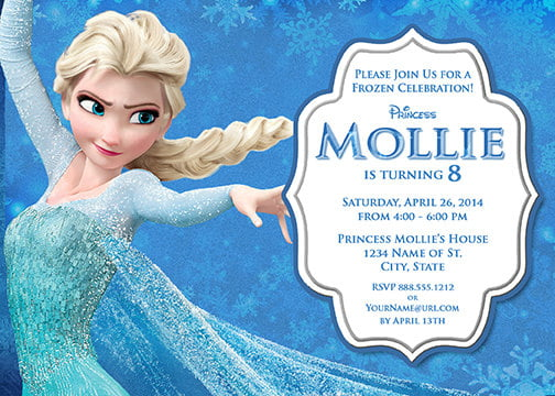 elsa frozen birthday party invitation