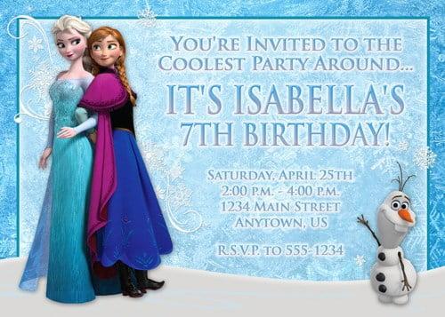 elsa frozen birthday party invitation