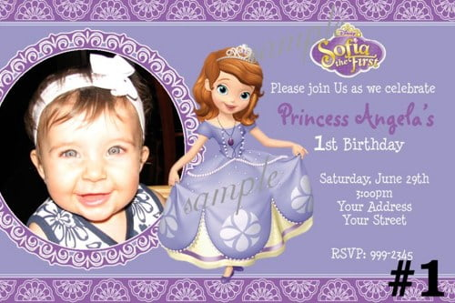 princess sofia birthday invitations