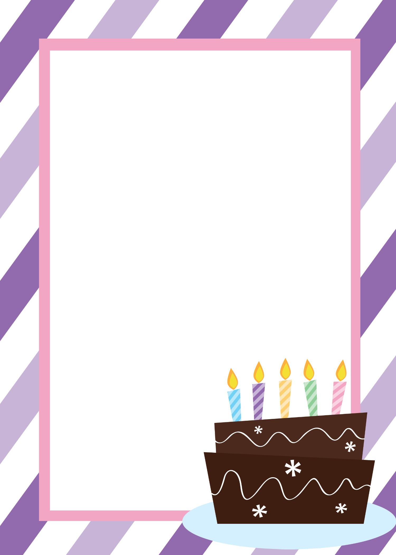 Free Printable Birthday Invitation Template Free