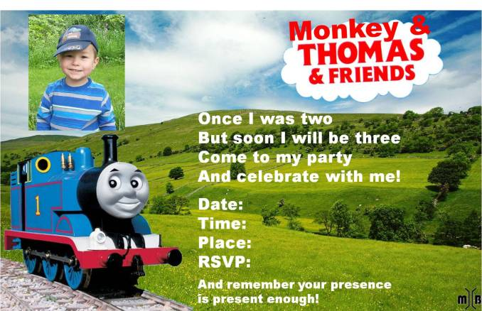 Thomas the train birthday party invitation wording newsinvitation invitations kids birthday party ideas thomas the train solutioingenieria Image collections